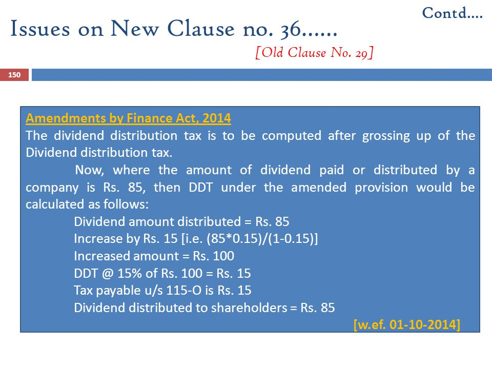 Issues on New Clause no. 36…… [Old Clause No. 29]